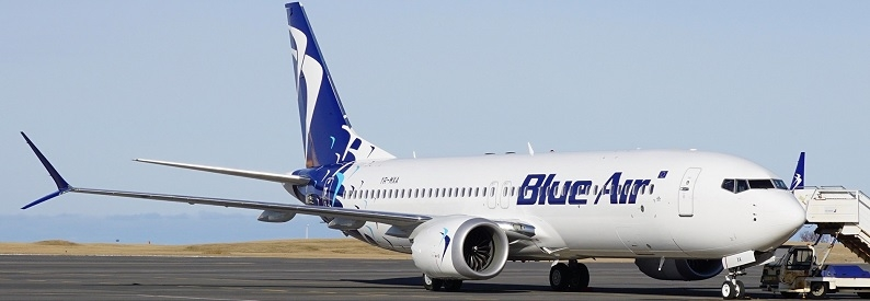 Illustration of Blue Air Boeing 737-8