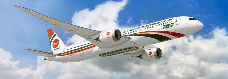 Illustration of Biman Bangladesh Airlines Boeing 787-9
