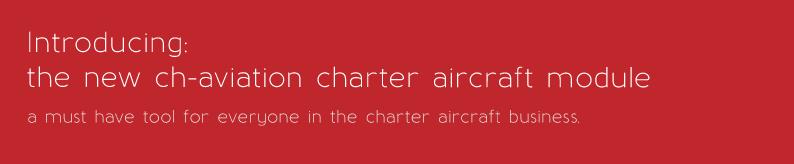 the ch-aviation charter aircraft module
