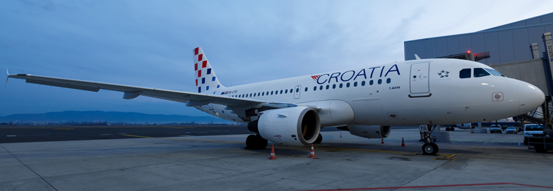 Croatia Airlines Airbus A320-200 at Split
