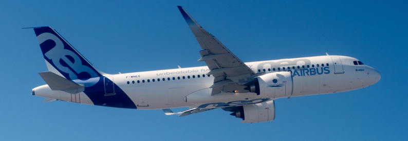 Airbus A320-200N on 1st flight