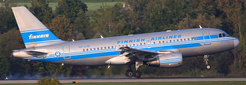Finnair Airbus A319-100 (in historic livery)