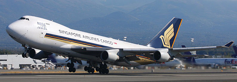Singapore Airlines Cargo Boeing 747-400F in ANC