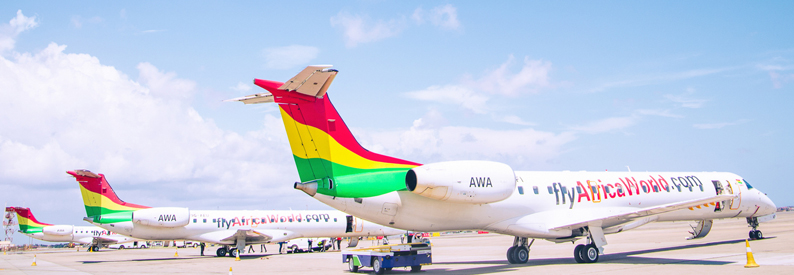 Africa World Airlines Embraer ERJ-145 in Accra