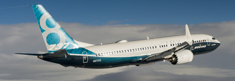 Boeing 737 MAX 8 on its first flight
