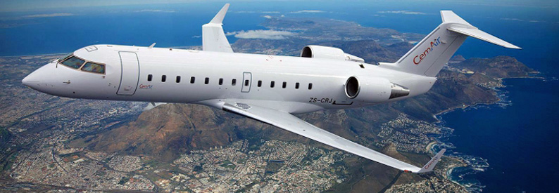 CemAir Bombardier CRJ100 over Cape Town