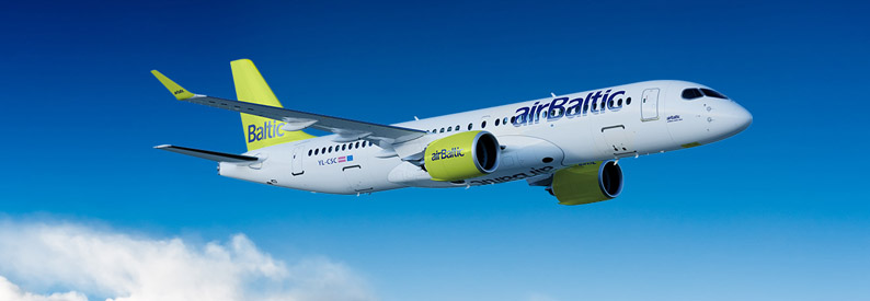 Illustration of airBaltic Bombardier CS300
