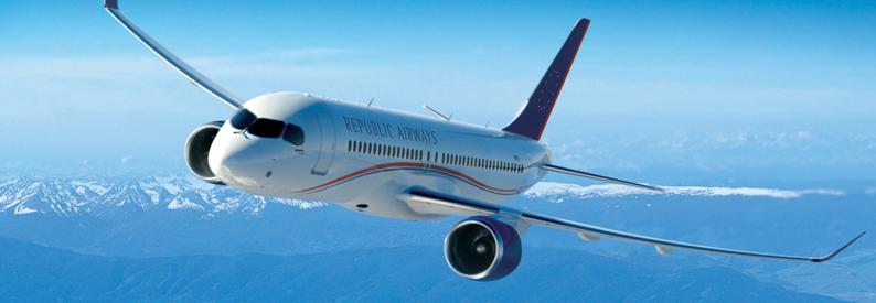 Illustration of Republic Airways Bombardier CS300