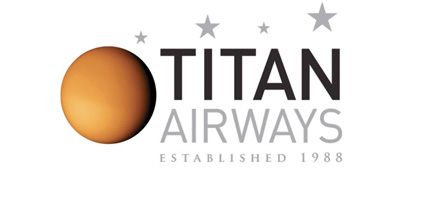 Logo of Titan Airways