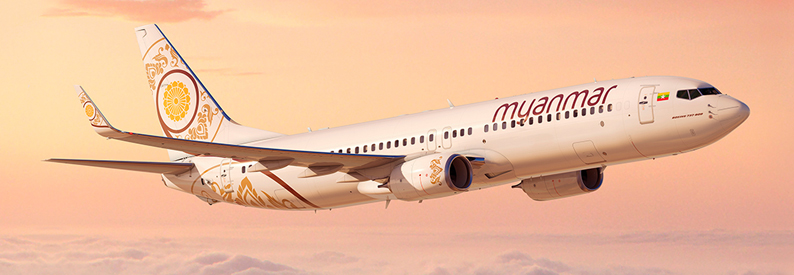 Illustration of Myanmar National  Boeing 737-800