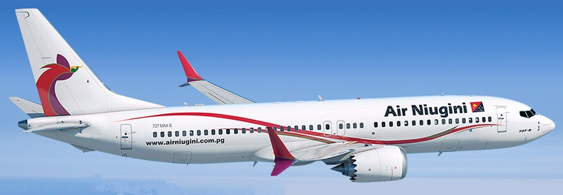 Illustration of Air Niugini Boeing 737-8