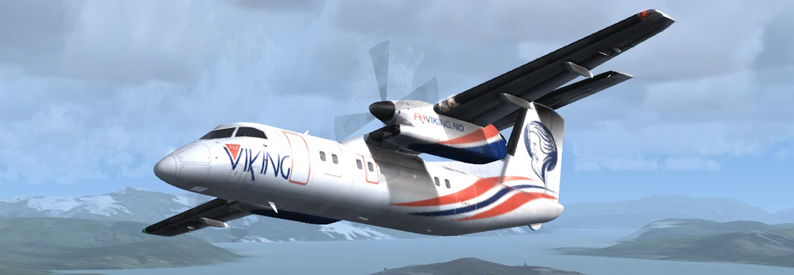 Illustration of Fly Viking Bombardier DHC-8-100