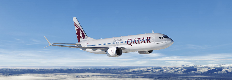 Illustration of Qatar Airways Boeing 737-8
