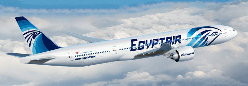 Illustration of EgyptAir Boeing 777-300ER