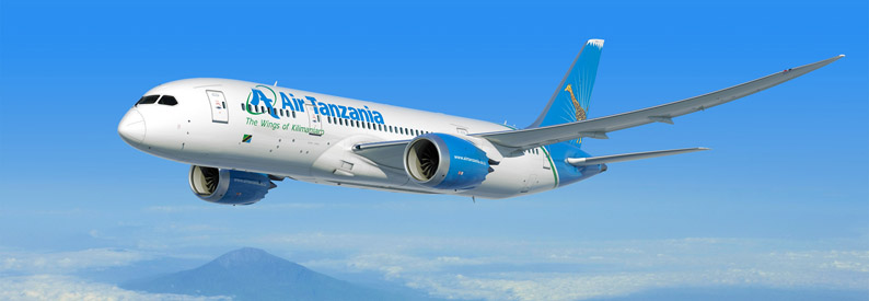 Illustration of Air Tanzania Boeing 787-8