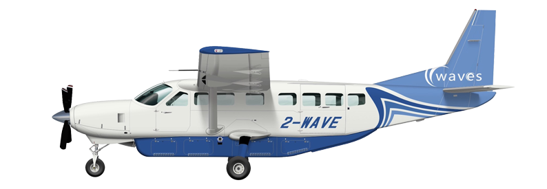Illustration of Waves Cessna 208