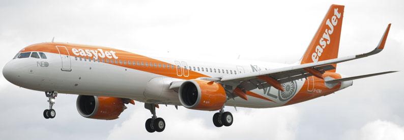 Illustration of easyJet Airbus A321-200neo
