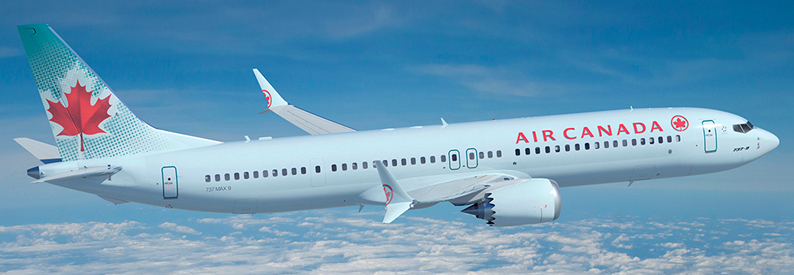 Illustration of Air Canada Boeing 737-MAX-9