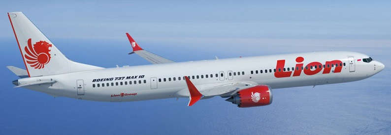 Illustration of Lion Air Boeing 737-10
