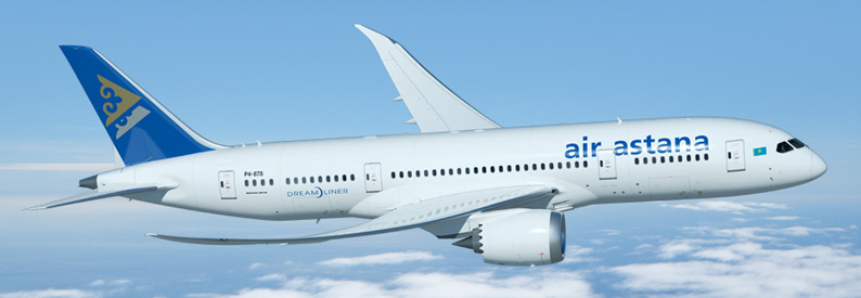 Illustration of Air Astana Boeing 787-8