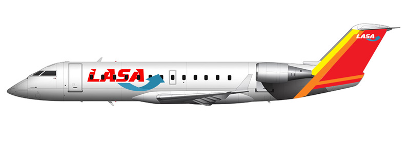 Illustration of LASA Bombardier CRJ200