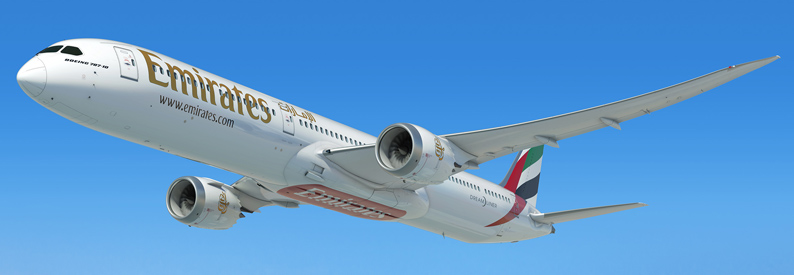 Illustration of Emirates Boeing 787-10