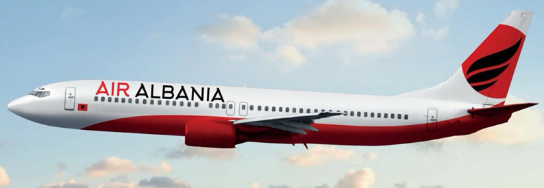 Illustration of Air Albania Boeing 737-400
