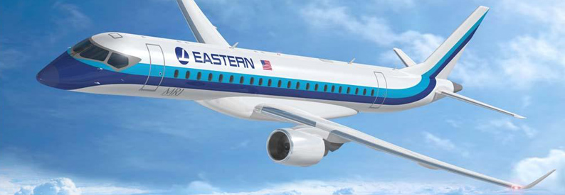 Illustration of Eastern Air Lines Mitsubishi MRJ90