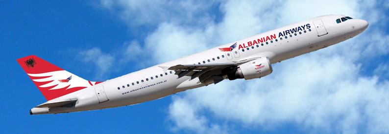 Illustration of Albanian Airways Airbus A320-200