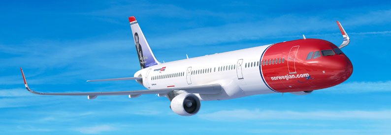 Illustration of Norwegian Airbus A321-200