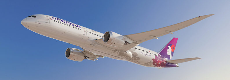 Illustration of Hawaiian Airlines Boeing 787-9