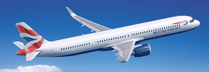 Illustration of British Airways Airbus A321-200N