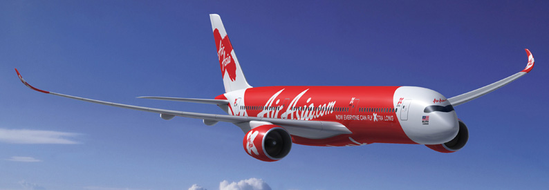 Illustration of AirAsia X Airbus A350-900