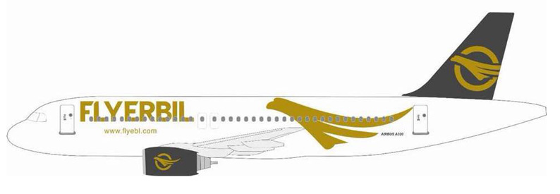 Illustration of Fly Erbil Airbus A320-200