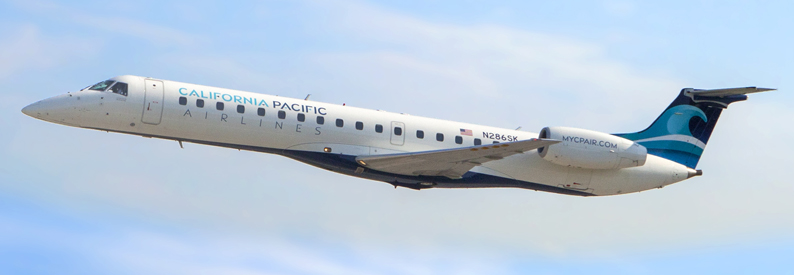 Illustration of California Pacific Airlines Embraer ERJ145