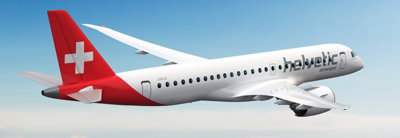 Illustration of Helvetic Airways Embraer E190-E2