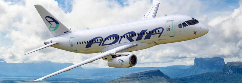Illustration of Adria Airways Sukhoi SSJ100/95