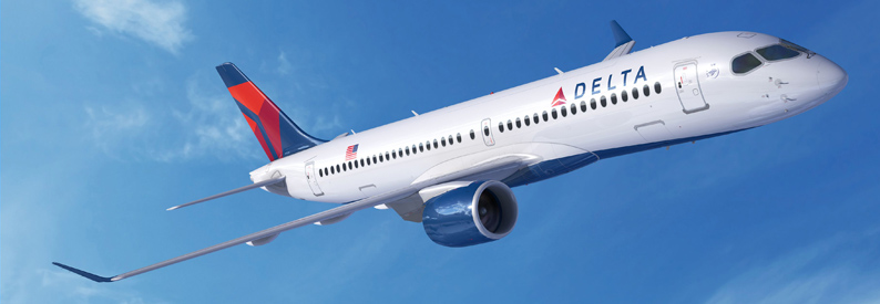 Illustration of Delta Air Lines Airbus A220-300