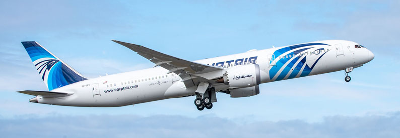 Illustration of EgyptAir Boeing 787-9