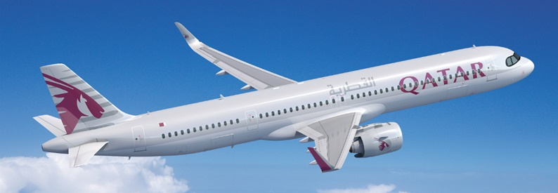Illustration of Qatar Airways Airbus A321-200NX