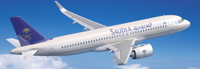 Illustration of Saudia Airbus A320-200N