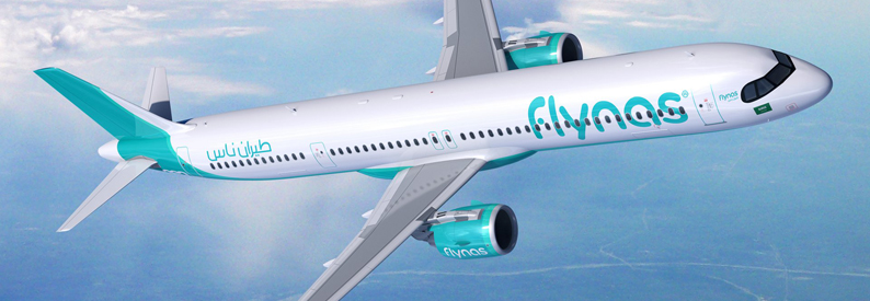 Illustration of flynas Airbus A321-200NXLR