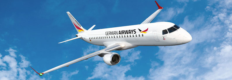 Illustration of German Airways Embraer E190