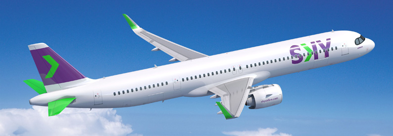 Illustration of SKY Airline Airbus A321-200NXLR