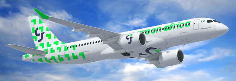 Illustration of Green Africa Airways Airbus A220-300