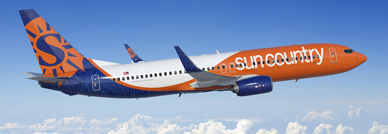 Illustration of Sun Country Airlines Boeing 737-800